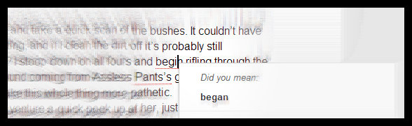 No, Google. I didn't mean began. If I meant began, I'd have written it.